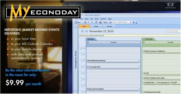Econoday Financial News Daytrading Calendar